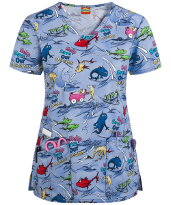 S Bluza medyczna Cherokee Tooniforms Dr. Seuss Save Our Oceans TF638SESO