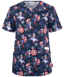 Bluza medyczna Cherokee Tooniforms Marvel Men's Star Power TF676MASP
