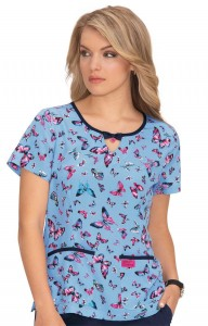 Bluza medyczna KOI Betsey Johnson Rose Bright Butterflies