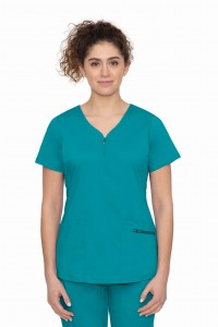 Bluza medyczna Healing Hands Purple Label JOGA  Jeni kolor Teal - zielony turkus